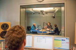 Hörfunkstudio und Regie ARD Hauptstadtstudio
