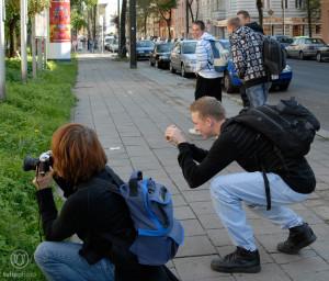 Kamera-Haltung