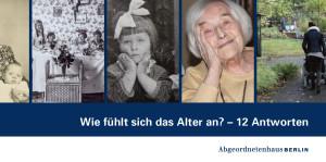 Wie fühlt sich das Alter an - Ausstellung Einladung